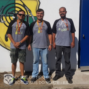 Da esquerda para direita: Allan Jacomini, Weslley Santos e Hugo Santos